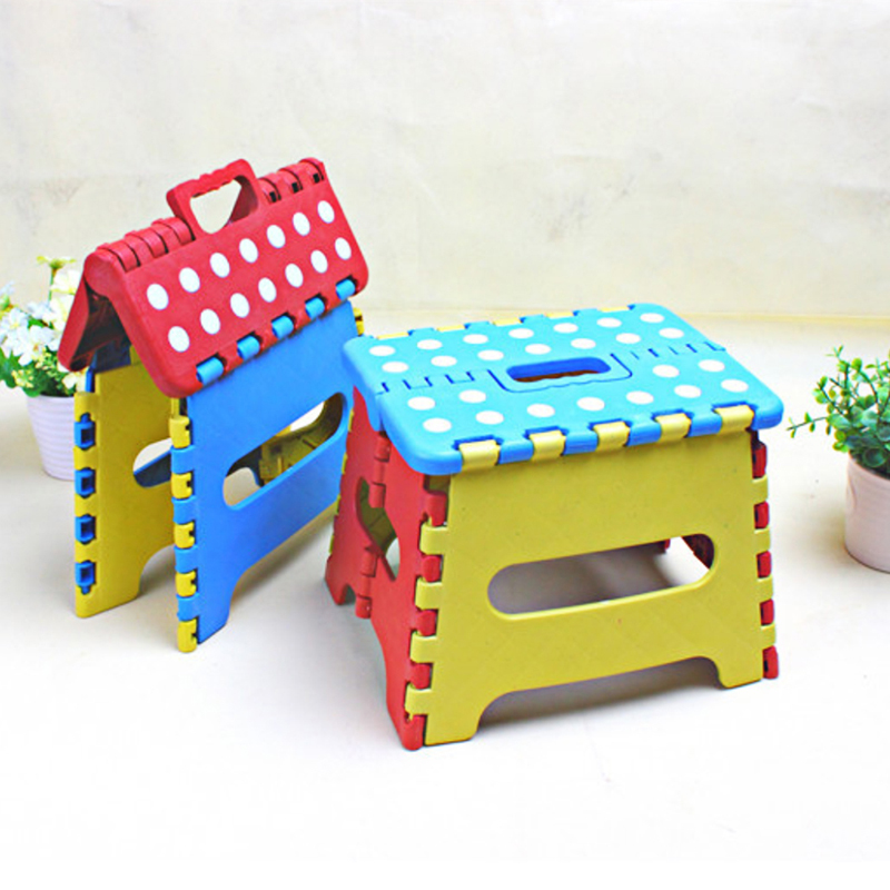 2019 Portable Thick Plastic Kids Folding Stool Outdoor Activity Safe Arbitrarily Movable Home Traveling Tool Without Backrest