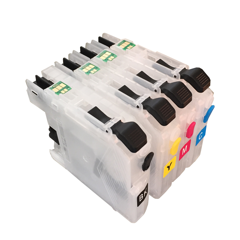 4pcs Refillable Ink cartridge LC213 LC215 LC217 LC219 for Brother mfc j4720n mfc 5620cdw mfc j5720cdw mfc j5820dn dcp j4220n b w in Ink Cartridges from Computer Office