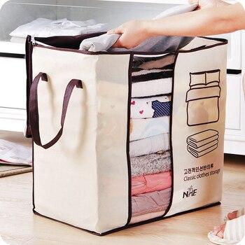 Não-tecido família economizar espaço organizador cama sob armário caixa de armazenamento roupas divisor organizador colcha saco titular organizador