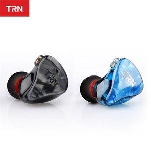 Image 2 - TRN IM2 1BA + 1DD Hibrid Kulak Kulaklık Koşu Spor Kulaklık DJ HIFI Kulaklık Özel Kulaklık Ayrılabilir Ayırmak 2Pin kablo