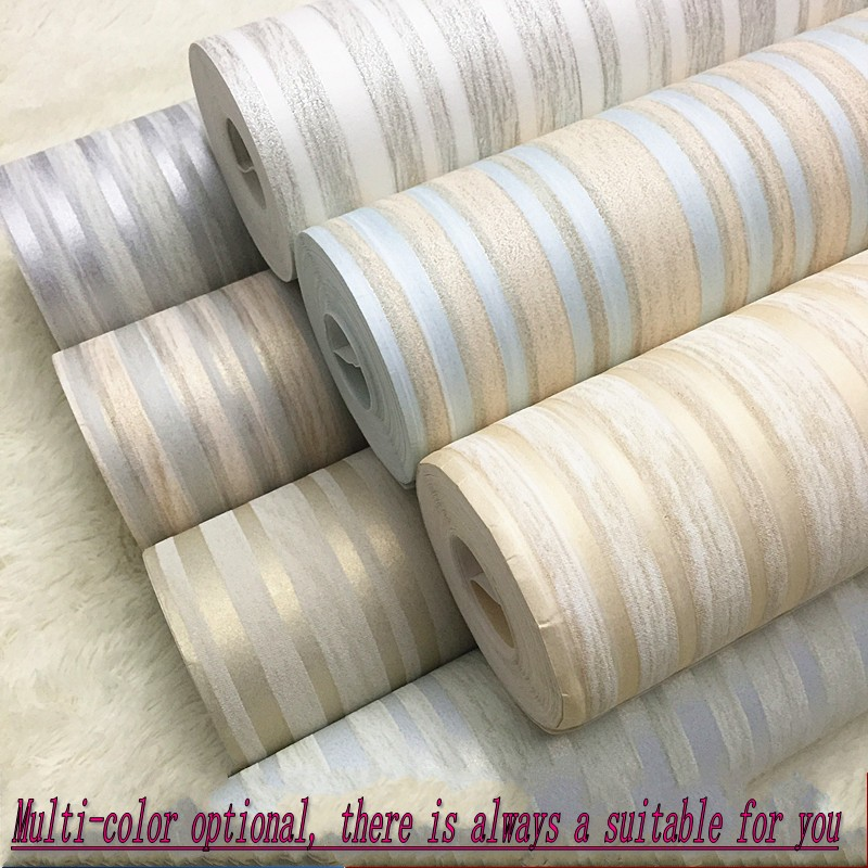 beibehang Modern simple non - woven fabric vertical striped wallpaper bedroom living room study background wallpaperbeibehang Modern simple non - woven fabric vertical striped wallpaper bedroom living room study background wallpaper