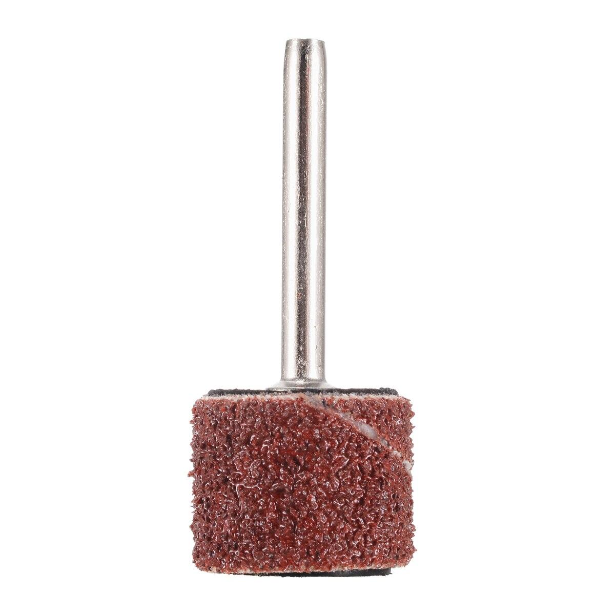 Mayitr 100pcs 1/2inch 80 Grit Sanding Bands + 2pcs 1/8inch Mandrel Hand Rotary Tool Nail Machine Nail Drill Bits Abrasive Tools
