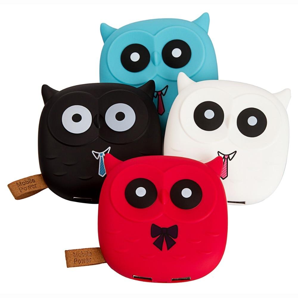 Cute Cartoon Owl 18650 Power Bank 5000mAh