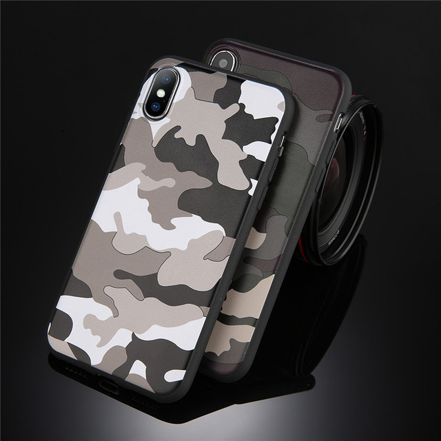 Army Green Camouflage Case For iPhones Soft TPU Silicon Phone Back Cover 4