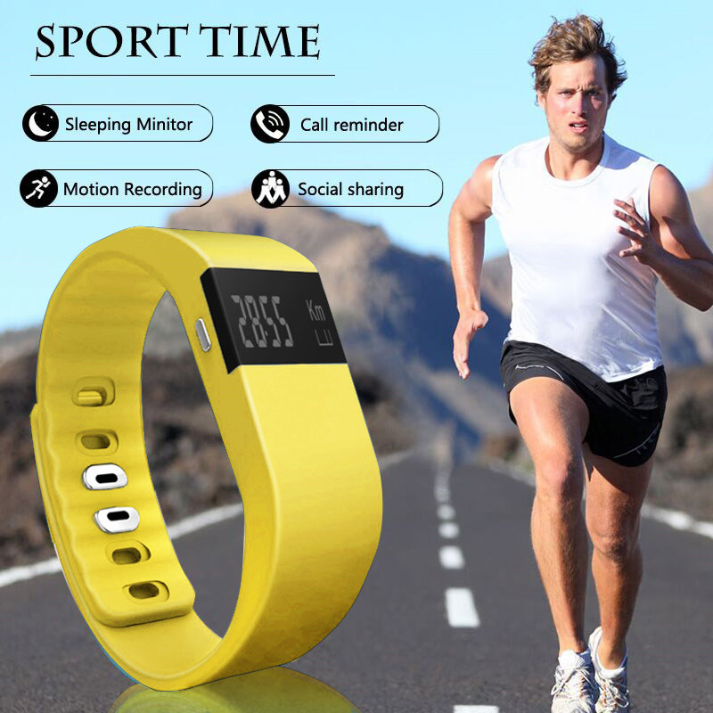 Fashion TW64 Fitness Tracker Bluetooth Smartband Casual Bracelet Smart Band Wristband Pedometer For IPhone IOS Android