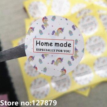 Diseño de unicornio de 120 piezas, especialmente para ti, etiqueta adhesiva hecha en casa, pegatina de papelería, decoración de bolsas de galletas para hornear