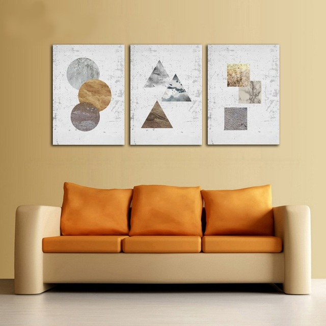 Modern Nordic Abstract Graphics 3 Pieces Living Room Decorative ...