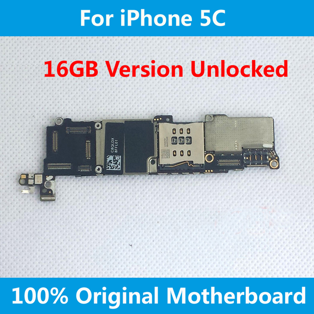 For iPhone 5C Original Motherboard 16GB 100% Official Version Unlocked Mainboard With Chips IOS Full function Logic Board