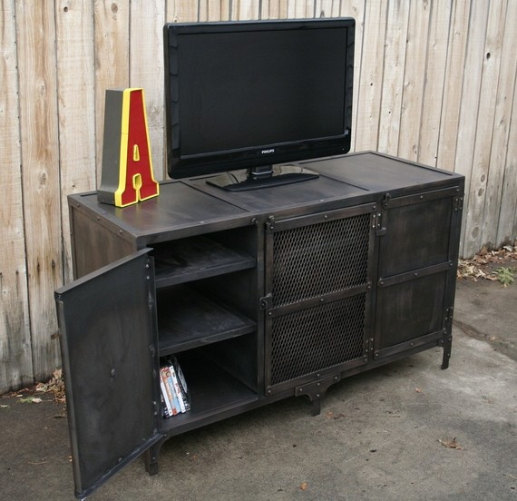 Vintage Tv In Kast.American Country European Retro Industrial Iron Aigui Living Room
