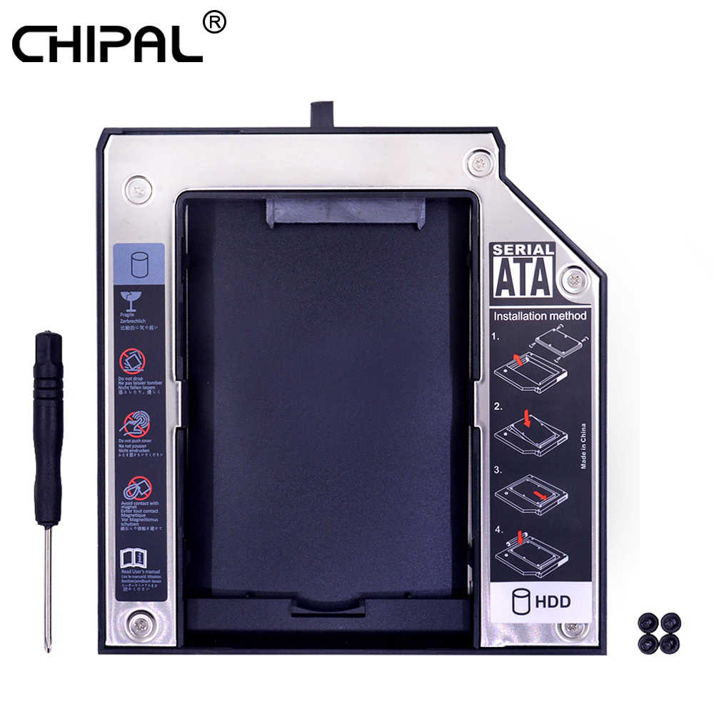"CHIPAL SATA 3.0 2nd HDD Caddy 12.7mm עבור 2.5 ""דיסק קשיח SSD מקרה מארז עבור Lenovo ThinkPad T420 t430 T510 T520 T530 DVD-ROM"