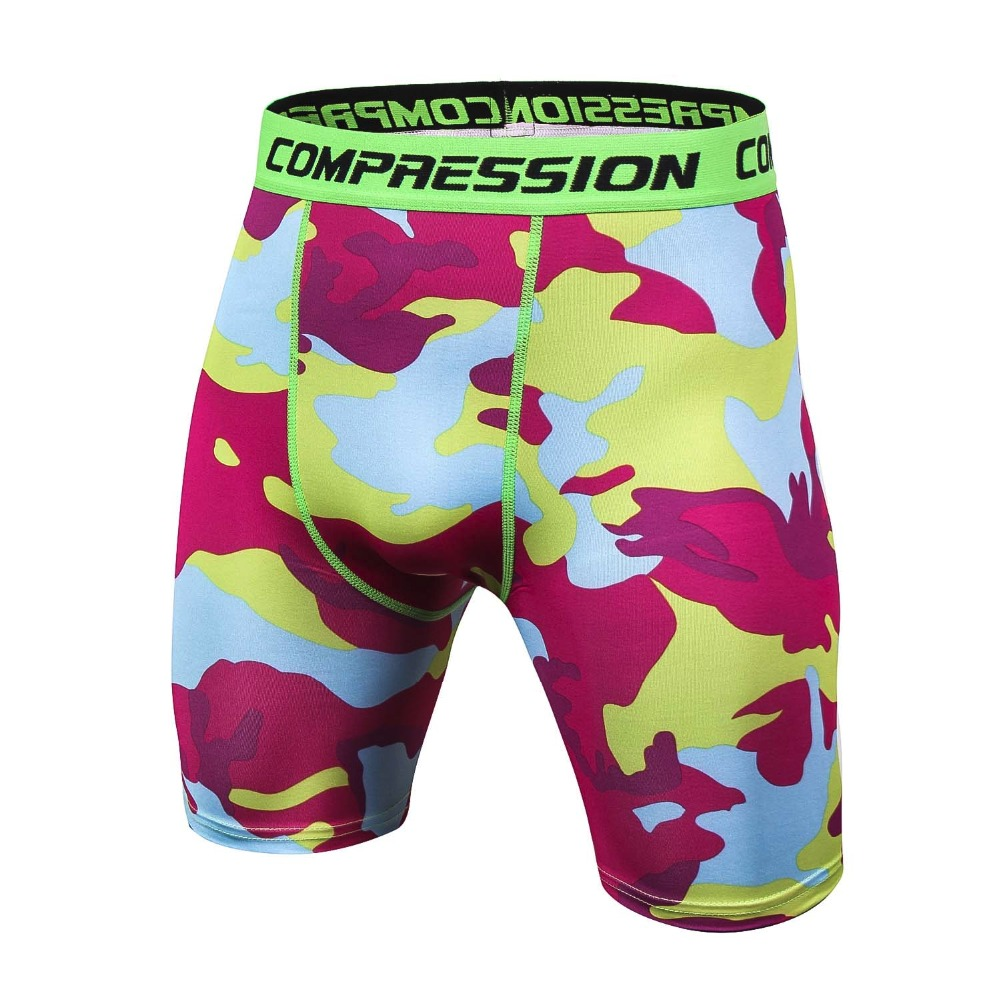 Casual Shorts Men Fitness Camouflage G yms Mens Shorts Male Muscle Alive Elastic Compression Shorts Tights Mens Workout Trousers