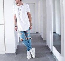 2017 Summer Men Short Sleeve Extended Hip Hop T shirt Oversized Tyga Kpop Swag Clothes Men's Casual Streetwear Camisetas