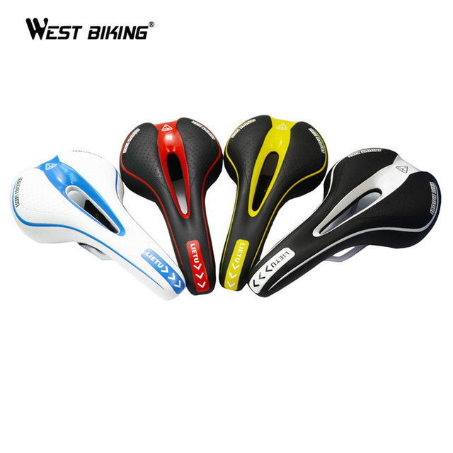 WEST BIKING MTB Mountain Bike Bicycle Cycling Silicone Skidproof Saddle Seat Silica Gel Cushion Seat VD-104 Black Bicycle Saddle