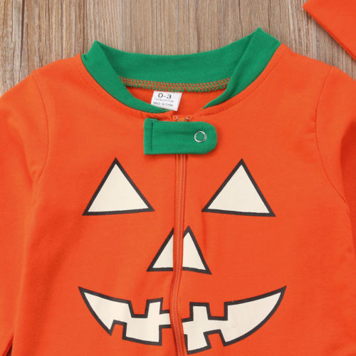 New Halloween Pumpkin Family Matching Outfit Cotton Homesuit Pajamas Mother  Dad Baby Kids Sleepwear Halloween Party Costume-in Matching Family Outfits  from ... 7361ddfec