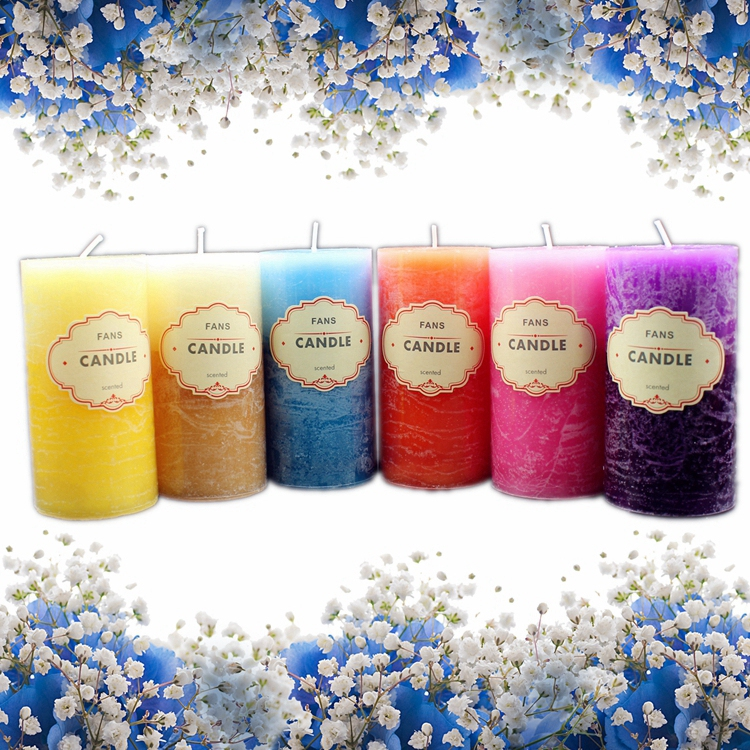 Scented Candle Crafts Column Paraffin Smokeless Scented Candles Fragrant Decorative for Party Home Decor