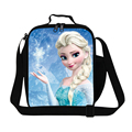 Cute Cartoon Bag Elsa Princess Print Cooler Lunch Bag For Students Kids Girls Picnic Food Bag Anna Snow Insulated Lunch Box