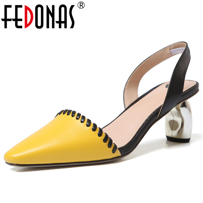FEDONAS Fashion Sweet Sandals For Women Genuine Leather Strange Style High Heels Fashion Pumps Summer Casual Sandals Shoes WomanFEDONAS Fashion Sweet Sandals For Women Genuine Leather Strange Style High Heels Fashion Pumps Summer Casual Sandals Shoes Woman