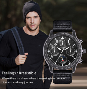 Часы наручные мужские кварцевые, модные роскошные спортивные брендовые водонепроницаемые, с кожаным ремешком, с сплавом