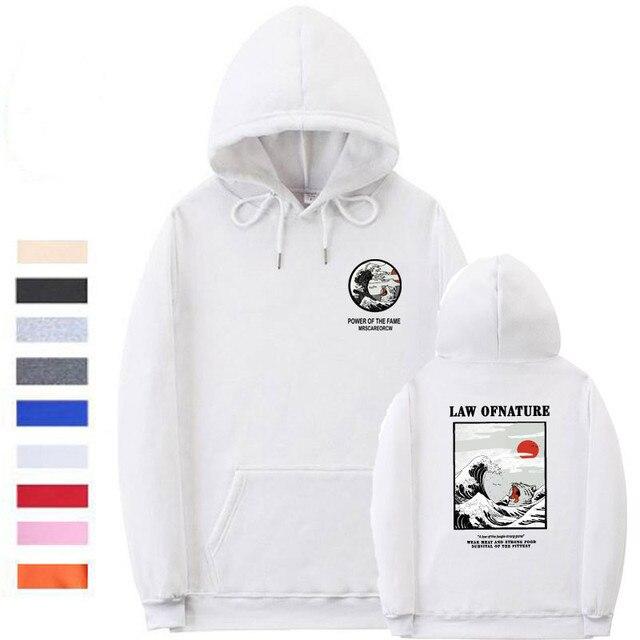 93f68615d Manguito rosca Onda Japonês Gato Engraçado hoodies homens Do Hoodie velo  impressão hip hop streetwear inverno