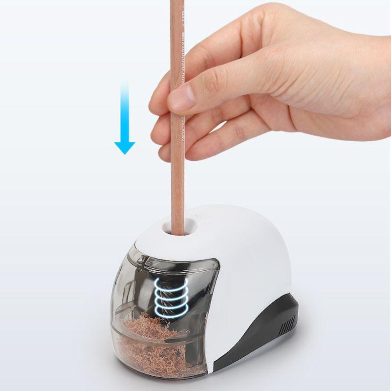 apontador de lapis eletrico usb simples estilo de negocios apontador automatico desktop escola material escritorio