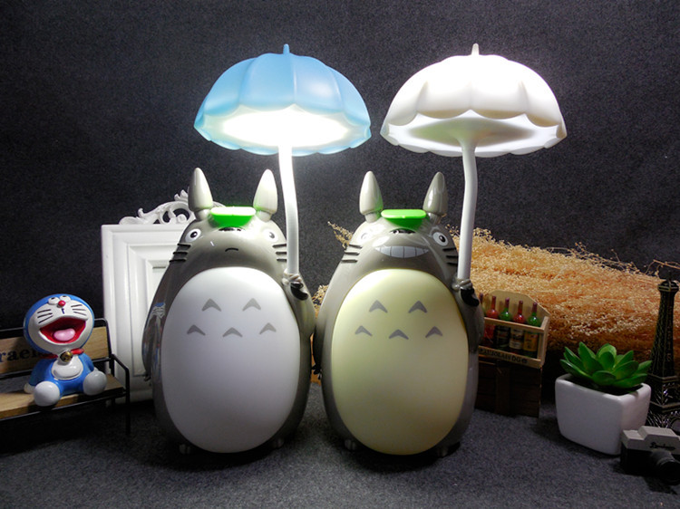 Cartoon My Neighbor Totoro Lamp Led Night Light USB Reading Table Desk Lamps for Kids Gift Home Decor Novelty Lightings novelty 3d full moon lamp led night light usb rechargeable color changing desk table light home decor 8 10 12 15 18 20cm