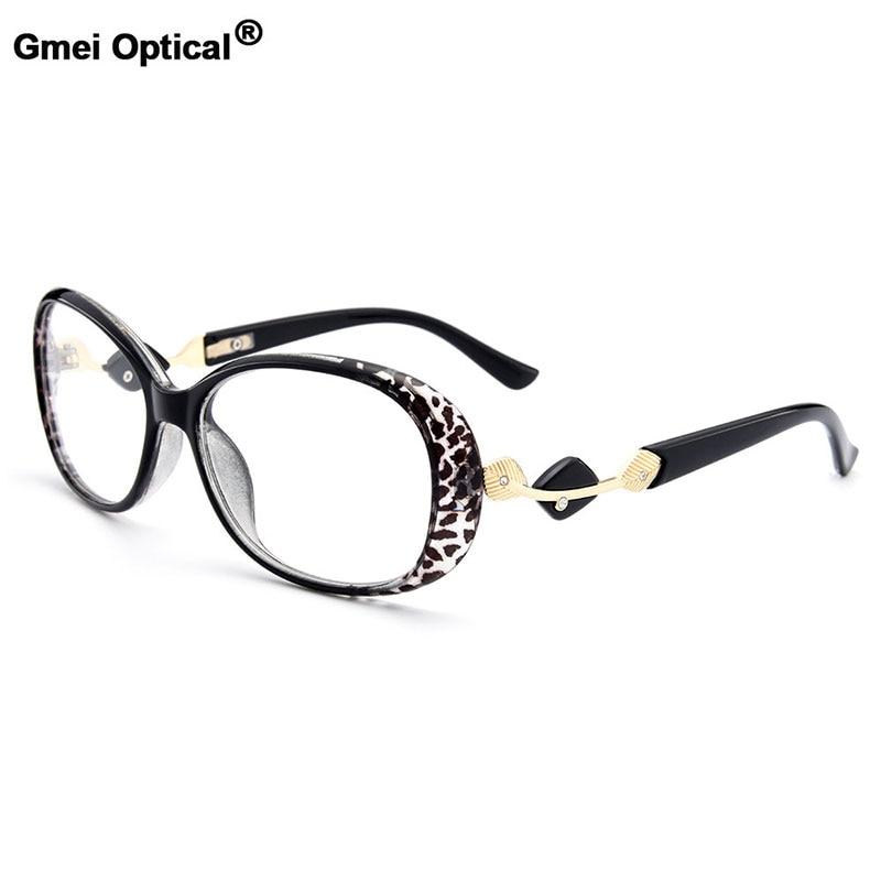 Gmei Optical Stylish Urltra-Light TR90 Full Rim Women Optical Eyeglasses Frames Female Plastic Myopia Presbyopia Eyewears M1481