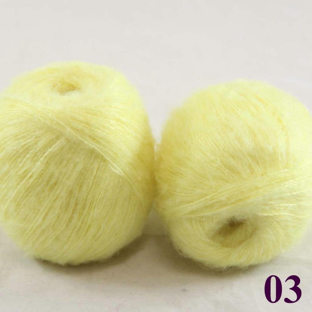 Penjualan Banyak 2 Bola X 50g Renda Mohair Tangan Merajut Benang Fiber Glass Cloth 017 Meteran Kasmir Sutra Jagung Kuning 290 03