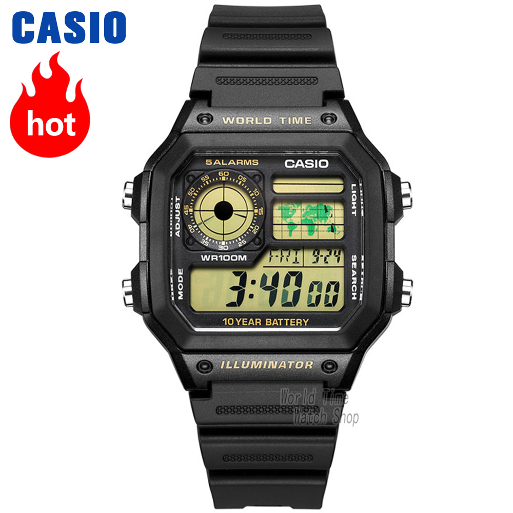 Casio montre Analogique Hommes de quartz montre de sport combine mode et montres classiques AE-1200