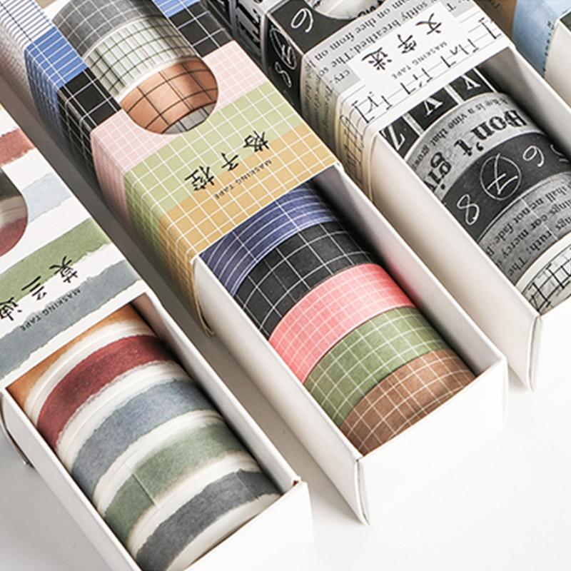 10 Pcs/pack Alphabet Number Decorative Sticker Washi Tape Adhesive Tape Diy Scrapbooking Sticker Label Masking Craft Tape