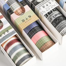 10 pièces/paquet Alphabet numéro autocollant décoratif Washi ruban adhésif bricolage Scrapbooking autocollant étiquette masquage artisanat ruban
