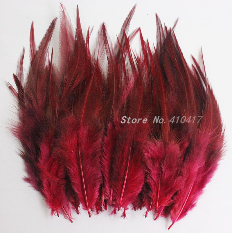 Red Stripped ROOSTER Feather Boa