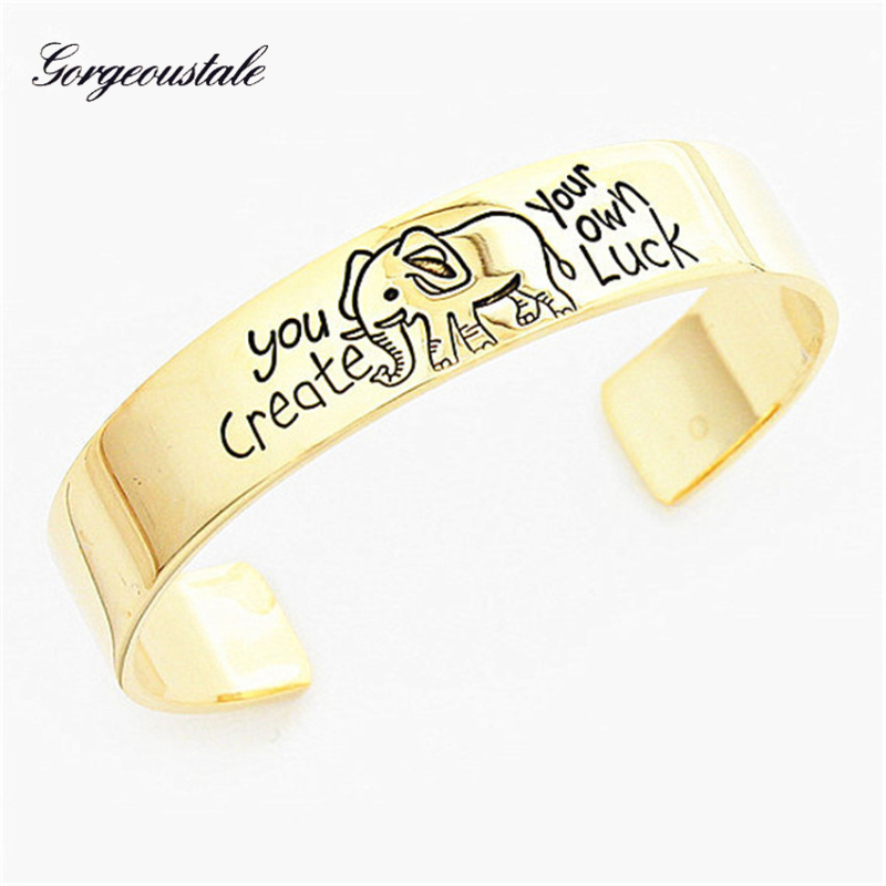 Vintage Jewelry Lucky Natural Elephant Bracelet For Women Silver Plated Gold Color Stainless Steel Carter Love Bracelet