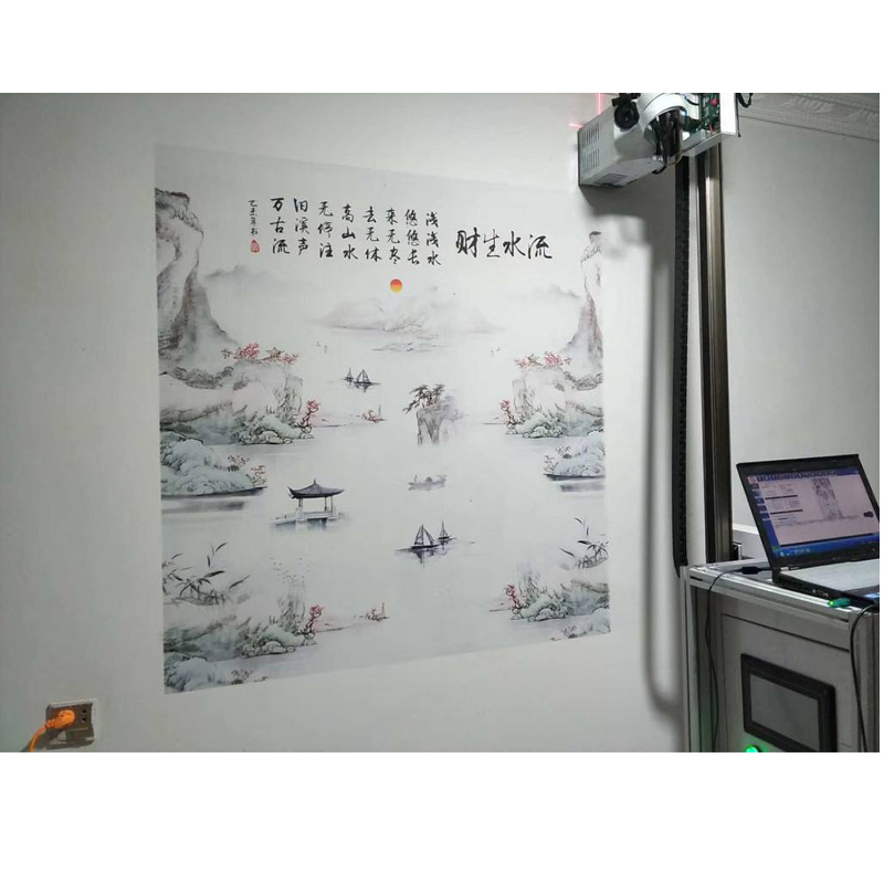 High Resolution Vertical Direct To Wall Inkjet Printer For Wall Mural