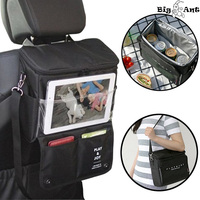 Car Seat Back Organizer Trunk Organzer Multifunctional Waterproof Car Backseat Storage Bag With Clear Tablet Holder