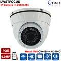 H.265/264 LWIRDNS400 4MP Сети Ip-камера безопасности cctv Купольная Камера поддержка POE Дополнительный ONVIF 2.4 С WDR ИК 20 М ИК