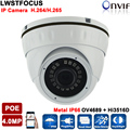H.265/264 LWIRDNS400 4MP Network IP Camera security cctv Dome Camera Support POE Optional  ONVIF 2.4 With WDR IR CUT 20M IR
