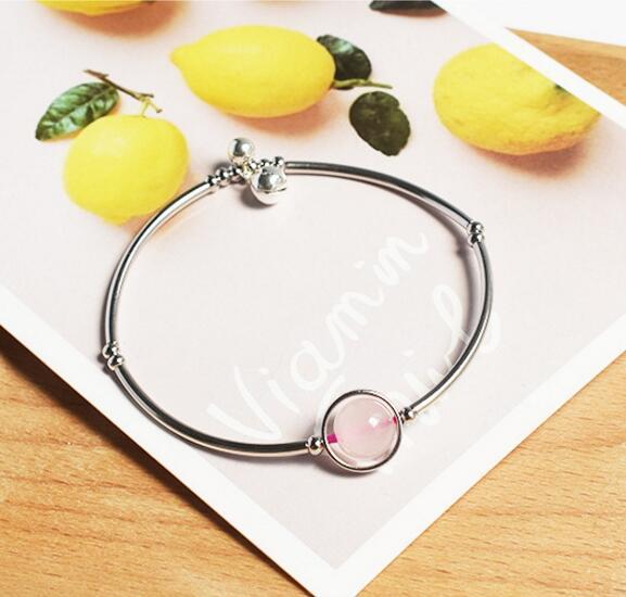 S925 sterling silber mondstein armband persönlichkeit einfache weibliche moonlight kristall armband GE011