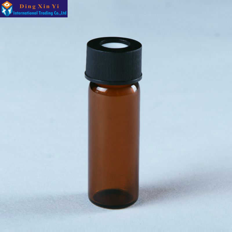100pcslot 4ml Brown screw chromatographic bottle,HPLC autosampler headspace vials Suitable for Agilent Waters Varian
