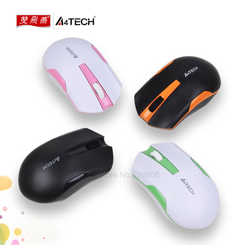 цена на A4tech G3 200N Wireless Mouse 2.4G Wireless Range10M Mini V-Track engine Wireless Mouse USB Optical Mouse For PC Laptop