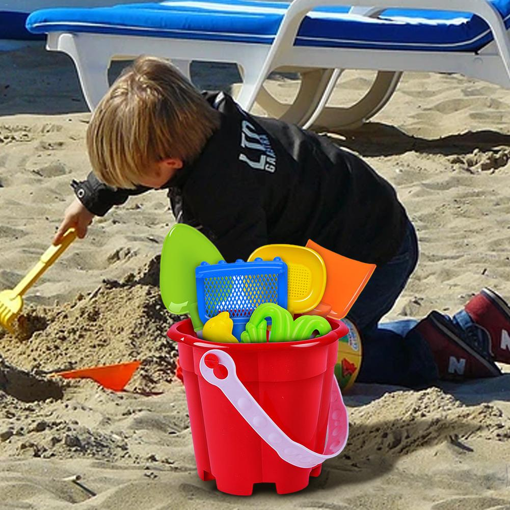 Beach-Toys Bucket-Set Children's Play Summer Hot Of 7sets