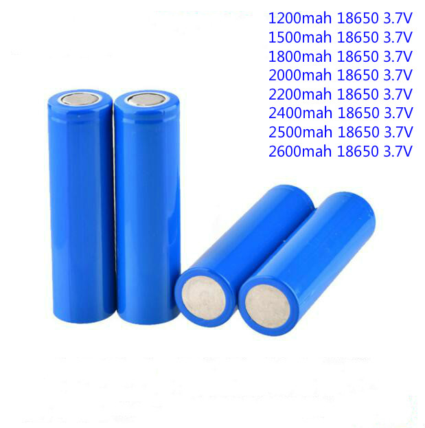 Cheap 18650 1200mah 1500mah <font><b>1800mah</b></font> 2000mah 2200mah 2600mah <font><b>3.7V</b></font> li-ion rechargeable <font><b>battery</b></font> for Mobile power flashlight 1pc/lot image