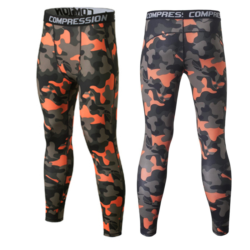 2016 Quick Dry Camo Kids Compression Pants Boys Fitness Pants Kids Skins Compression Tights Football Running Legging Trousers