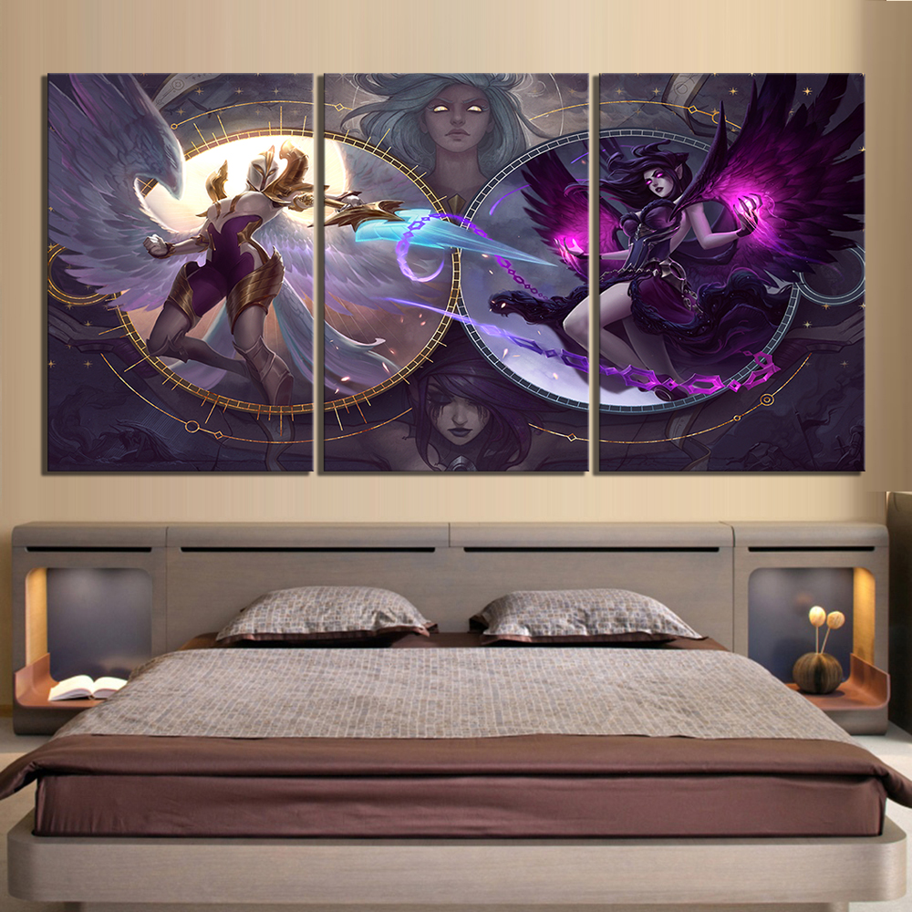 3 Piece LOL Games Art Print Canvas Paintings League of Legends Poster Pictures Decorative Paintings Wall Art for Home Decor 3