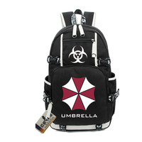 2017 New Resident Evil Protective Umbrella Shoulders Backpack Men Women High School Leisure Laptop Travel Bags