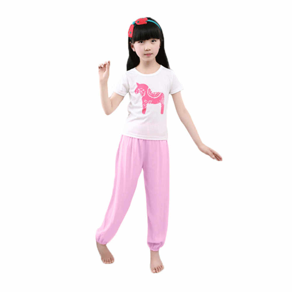TENMET Drawstring Harem Pants for Kids Boys Girls Yoga Trousers Baggy Boho Bloomers Clothes