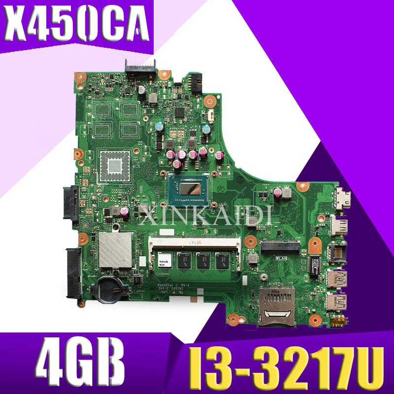 Akemy For Asus X450CC X450CA A450C X450C Motherboard with I3-3217U cpu 4GB memoryAkemy For Asus X450CC X450CA A450C X450C Motherboard with I3-3217U cpu 4GB memory