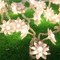20 Luzes Led String Bateria Operado Luzes De Natal De Fadas Branco Quente Lutos Flor Decorativa Interior Ao Ar Livre do Partido Da Árvore de Pátio