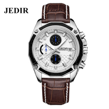 JEDIR Quartz Watches Men's Analog Leather Wrist watch Multifunction Big Dial Male Military Sport Relojes Waterproof Luxury Brand
