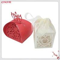 100 قطع الزفاف كاندي صندوق عرس حلويات رومانسية هدية مربع مع الشريط حفل زفاف استحمام الطفل الهدايا مربع 5ZT84