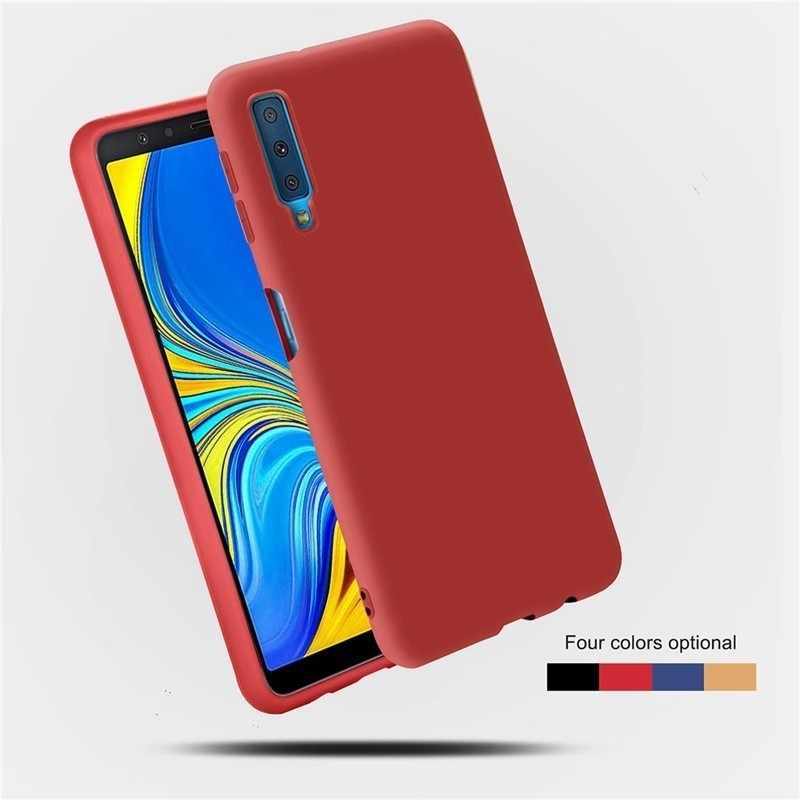 Case For Samsung Galaxy A5 A8 A6 A7 2018 A10 A20 A30 A40 A50 A70 S10 S9 S8 S7 Edge Plus Candy Color Tpu Soft Silicone Cover